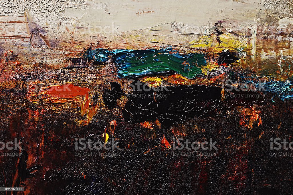 Abstract painted black  art backgrounds. royalty-free stock photo