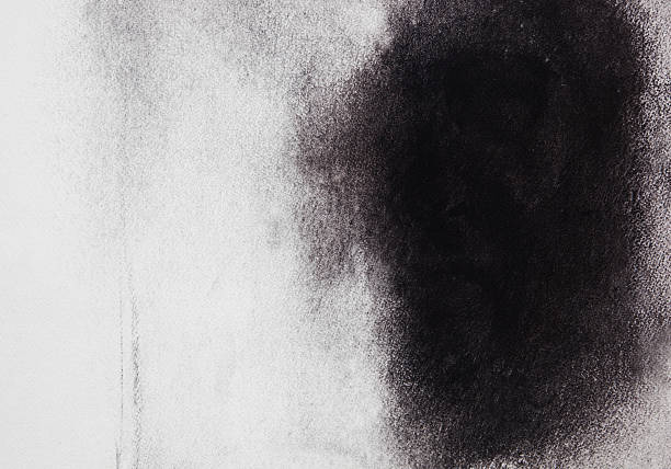 abstract painted  black  art backgrounds. - charcoal drawing stock photos and pictures
