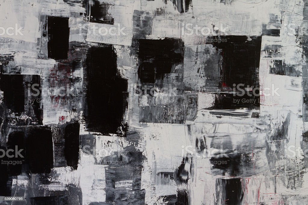 Abstract painted black grey and white arts backgrounds stock photo