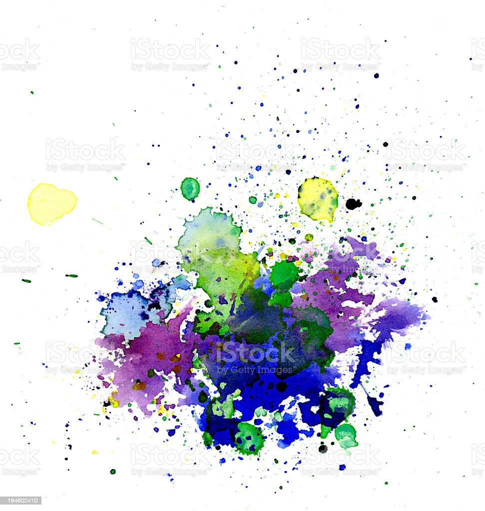 Abstract painted blob royalty-free stock photo