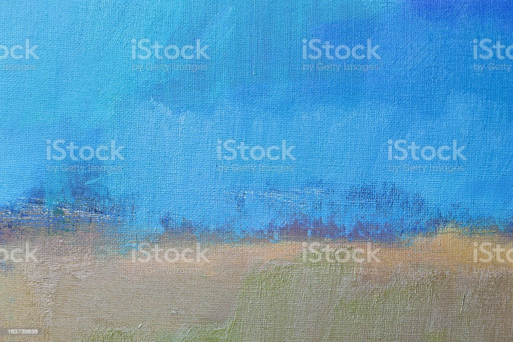 Abstract painted blue and beige art backgrounds stock photo