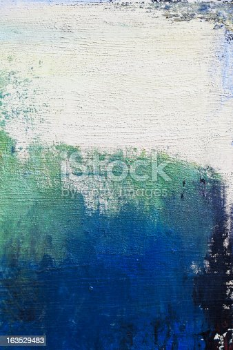 istock Abstract painted blue and green art backgrounds. 163529483