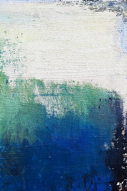 abstrakte blauen und grünen art hintergründe. - ölgemälde modern stock-fotos und bilder