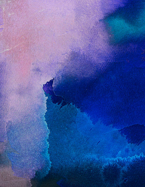 abstract painted blue and purple  art backgrounds. - purple watercolor stock photos and pictures