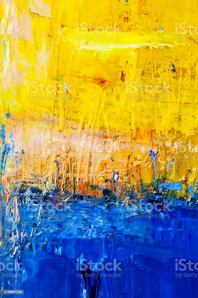 New Abstract Painted Blue And Yellow Art Backgrounds Stock Photo  LV76