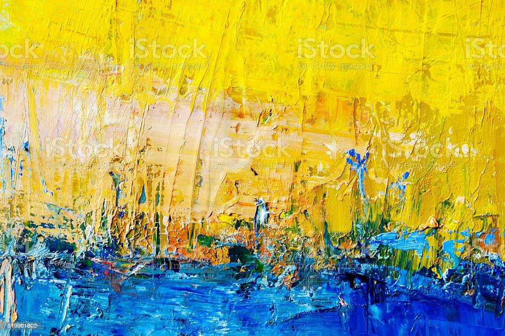 Dipinti astratti blu e giallo arte sfondi fotografie for Immagini dipinti astratti
