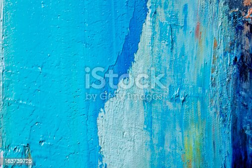 istock Abstract painted  blue art backgrounds. 163739725