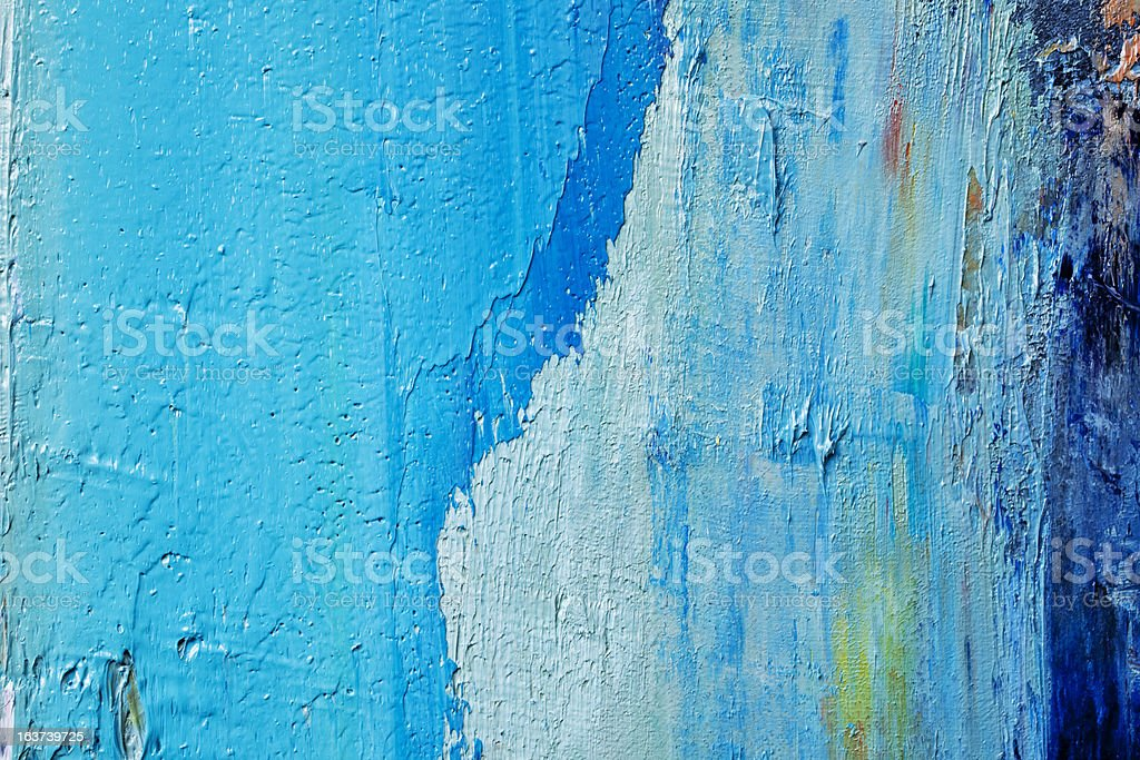 Abstract painted  blue art backgrounds. stock photo