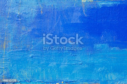 istock Abstract painted  blue art backgrounds. 168510776