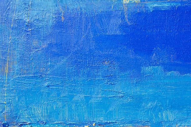 abstract painted  blue art backgrounds. - yağlı boya resim stok fotoğraflar ve resimler