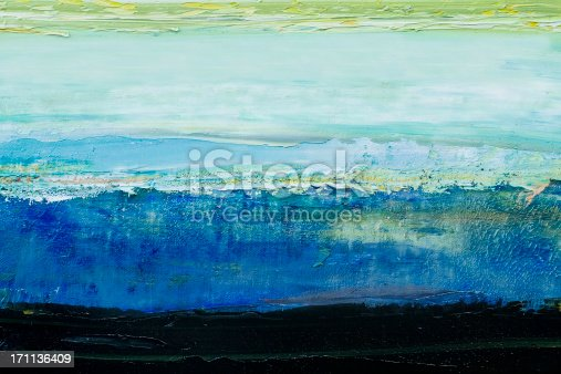 171137832istockphoto Abstract painted blue art backgrounds. 171136409