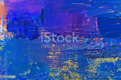 istock Abstract painted  blue art backgrounds. 171143566