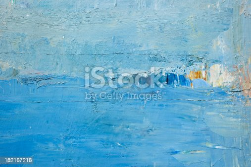 istock Abstract painted  blue art backgrounds. 182167216