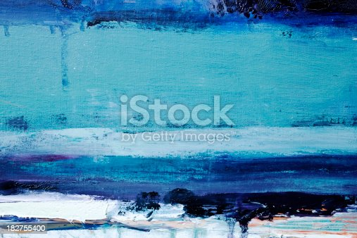 istock Abstract painted  blue art backgrounds. 182755400