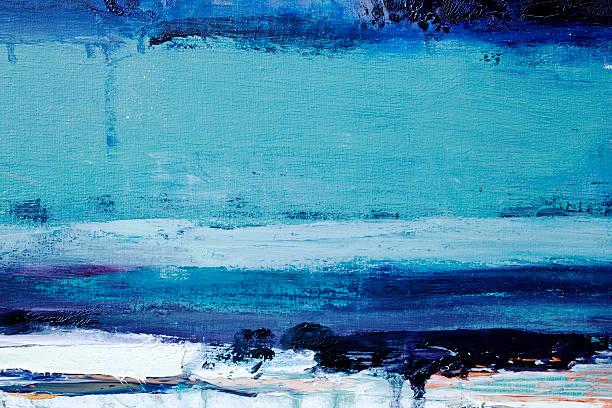 abstrakte blauen art hintergründe. - acrylbilder modern stock-fotos und bilder