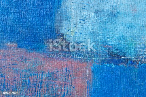 istock Abstract painted  blue art backgrounds. 185287528