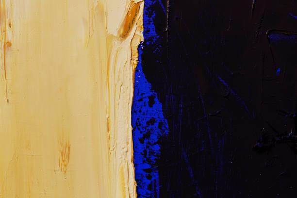 abstrakt gemalt blau schwarz und gelb art hintergründe. - acrylbilder modern stock-fotos und bilder