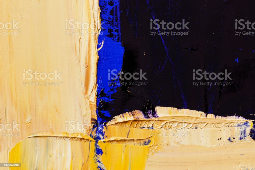Abstract painted blue black and yellow art backgrounds. royalty-free stock photo