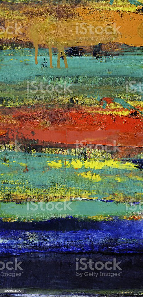 Abstract painted blue red  and green art backgrounds. stock photo