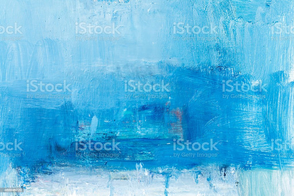 Abstract painted  blue textured  art backgrounds. stock photo