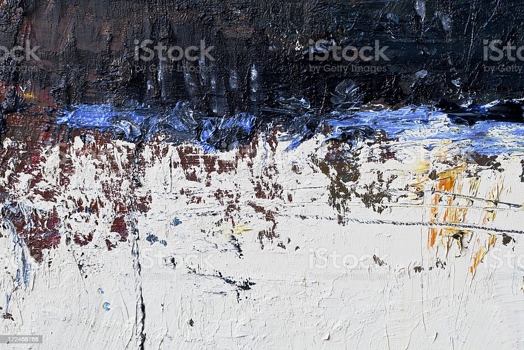 Abstract painted blue white and black art backgrounds. royalty-free stock photo