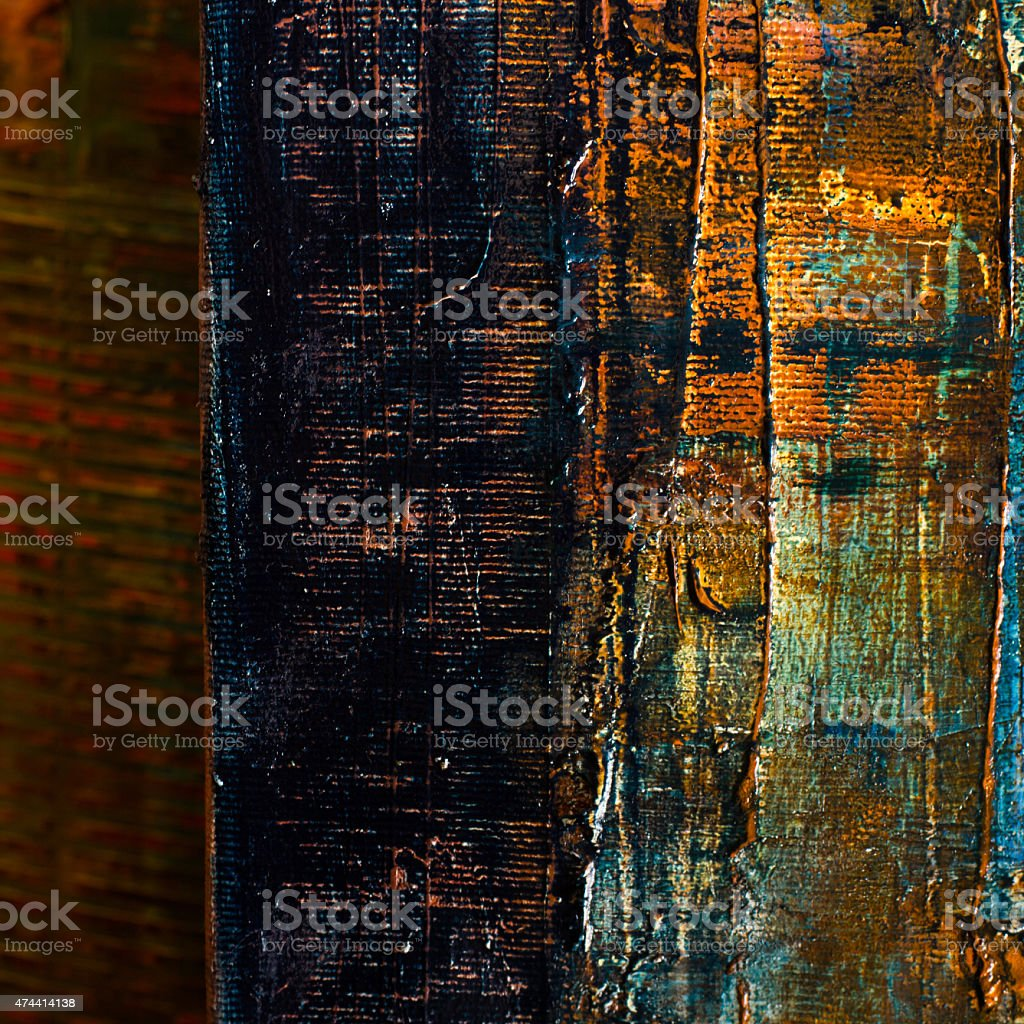 Abstract painted canvas. Oil paints on a palette. Colorful background. stock photo