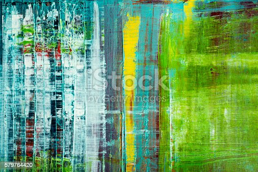 istock Abstract painted canvas. Oil paints on a palette. 579764420