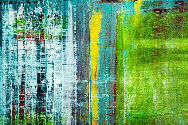 Abstract painted canvas. Oil paints on a palette. - foto de stock