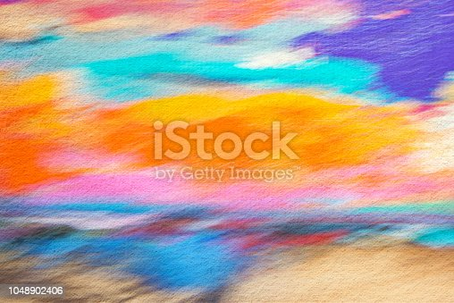 887755698istockphoto Abstract painted colored art background, pastel and watercolor 1048902406