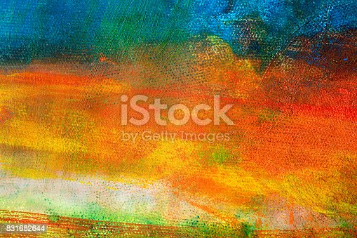 istock Abstract painted colored art backgrounds 831682644