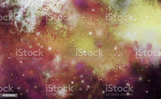 Photo of Abstract painted digital generated nebula