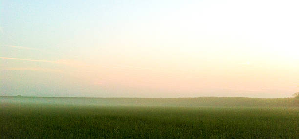 Abstract painted farmland stock photo