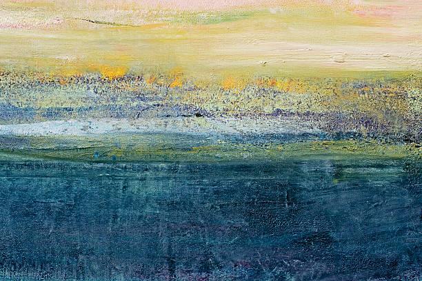 abstrakt gemalte grün und blau art-hintergrund. - acrylbilder modern stock-fotos und bilder