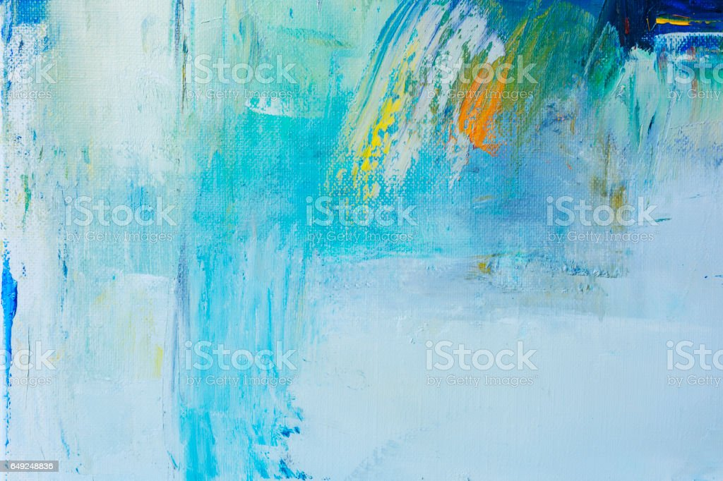 Abstract painted green and blue art backgrounds stock photo