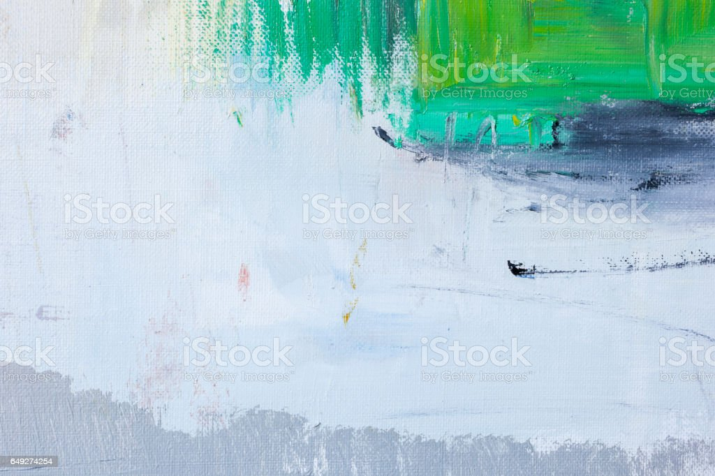 Abstract painted green and gray art backgrounds stock photo