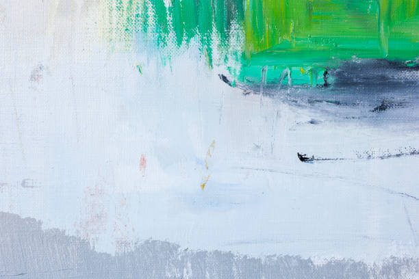 Origines de l'art abstrait peint vert et gris - Photo