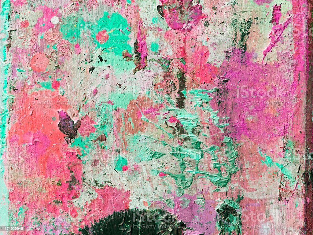 Abstract painted  green and pink art backgrounds. royalty-free stock photo