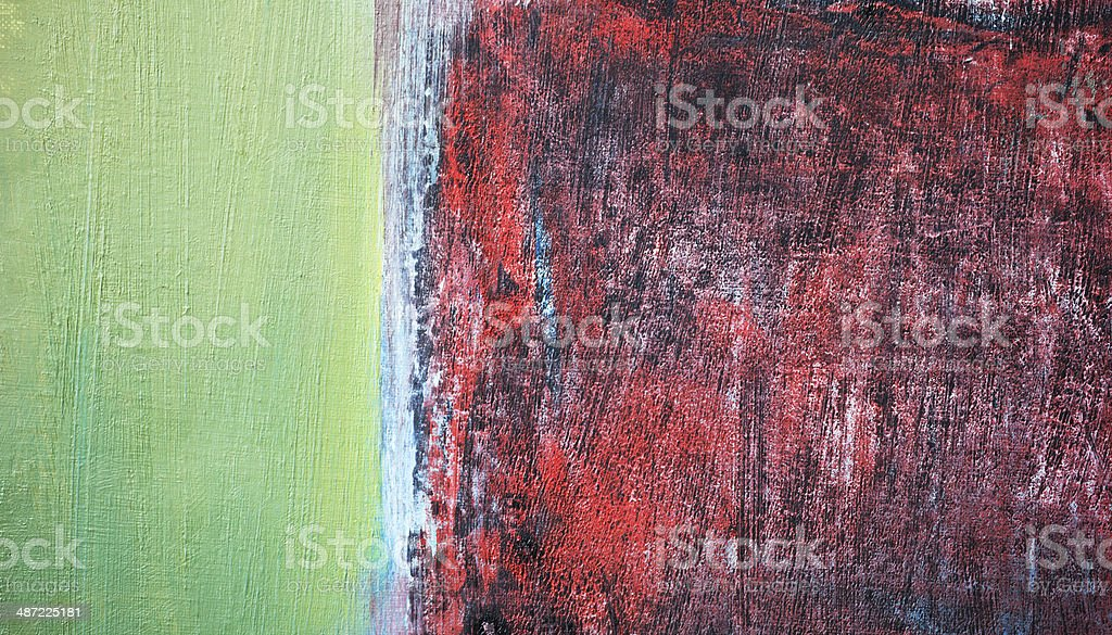 Abstract painted  green and red art backgrounds. royalty-free stock photo