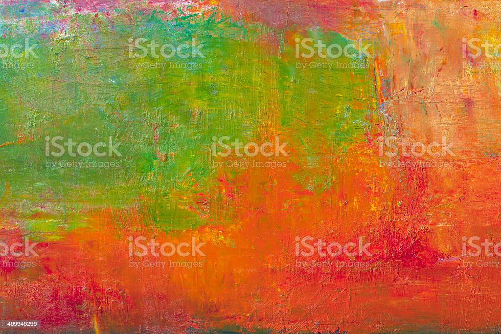 Abstract painted green and red textured  art backgrounds. stock photo