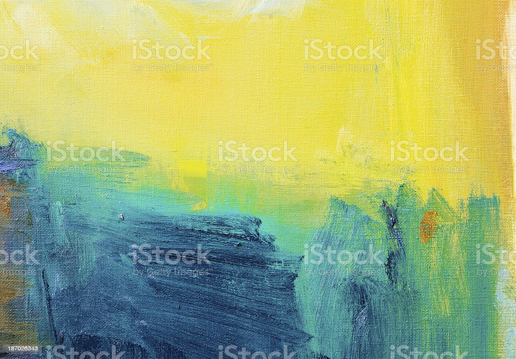 Abstract painted  green and yellow  art backgrounds. royalty-free stock photo