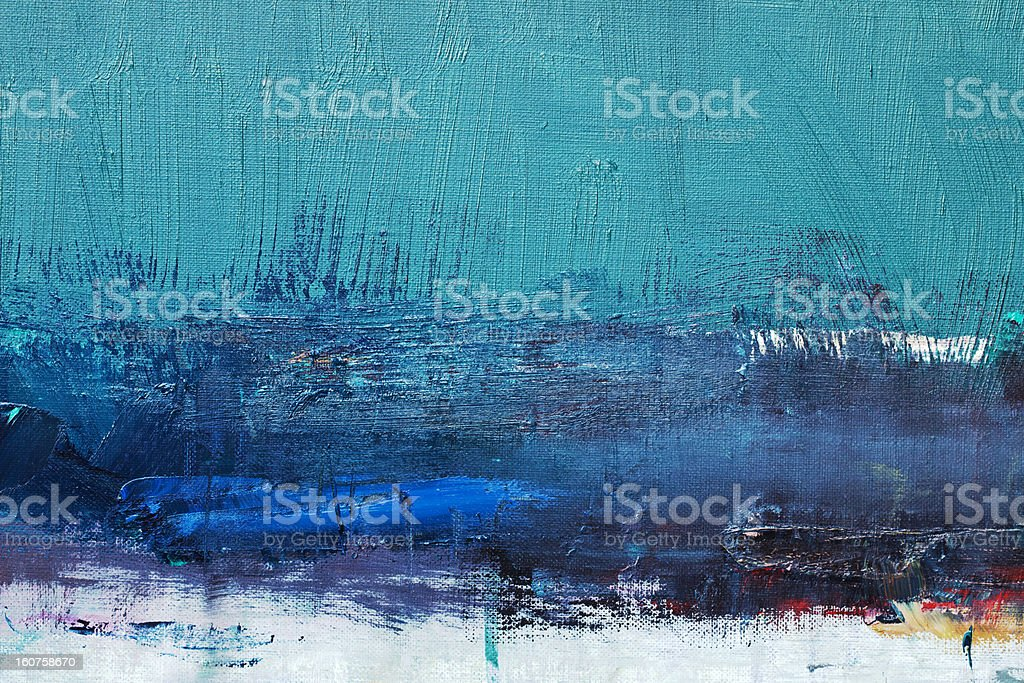 Abstract painted green art backgrounds. stock photo