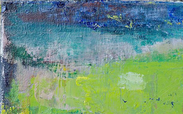 abstrakt gemalte green-art-hintergrund. - ölgemälde modern stock-fotos und bilder