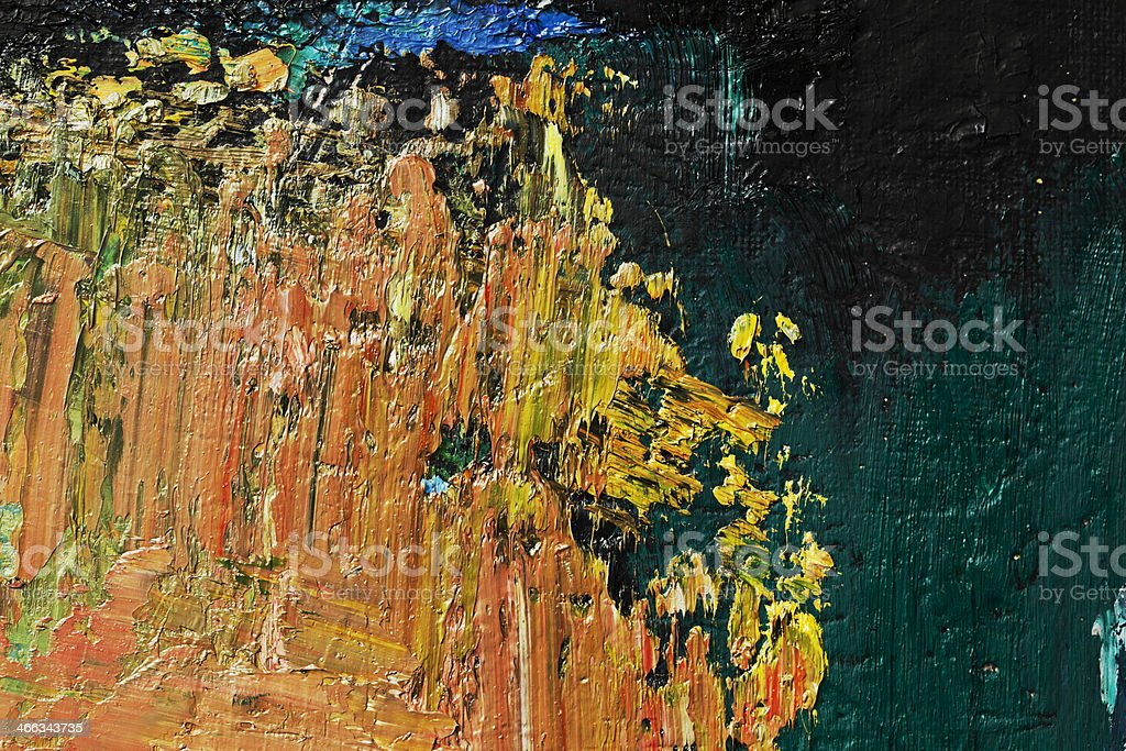 Abstract painted green, orange and black art backgrounds. royalty-free stock photo