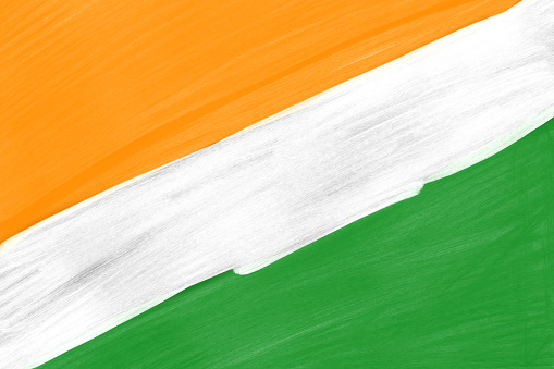 Abstract Painted Indian Flag Colors Background India ...