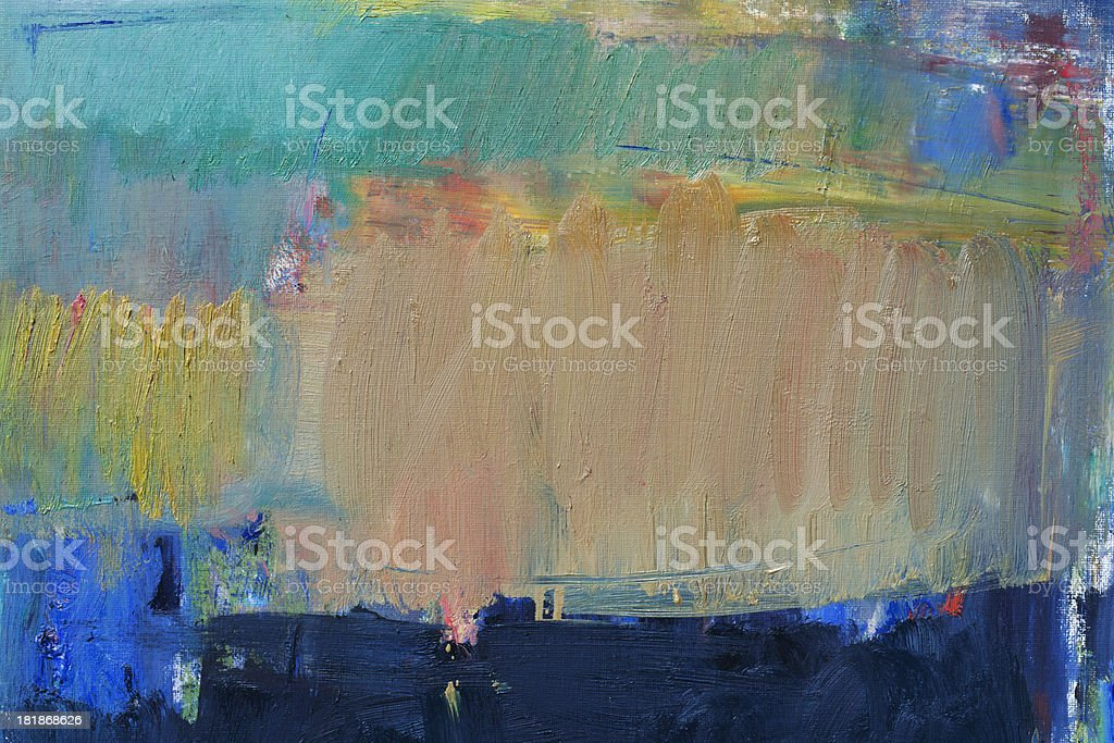 Abstract painted ocher  green and blue art backgrounds. royalty-free stock photo