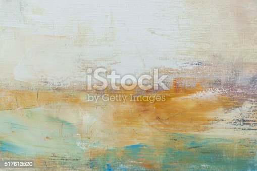 istock Abstract painted off white  and green art backgrounds. 517613520