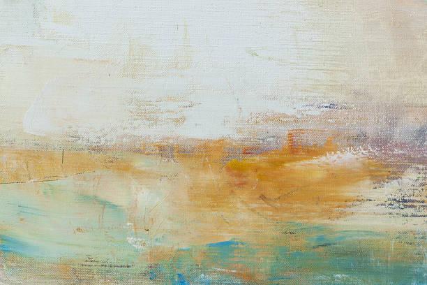 abstrakt gemalte weiße und grüne art-hintergrund. - ölgemälde modern stock-fotos und bilder