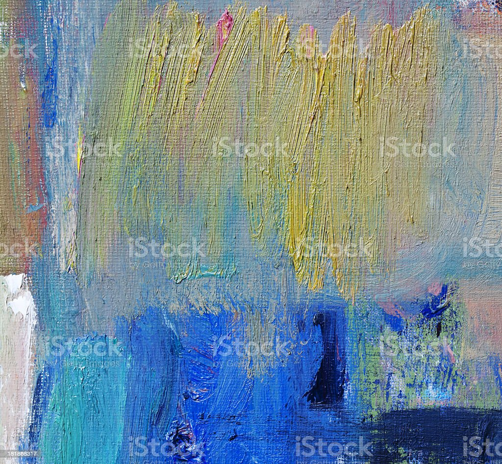 Abstract painted orange and blue   art backgrounds. royalty-free stock photo