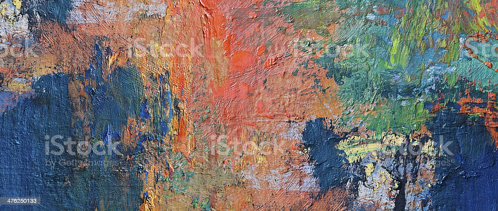 Abstract painted orange and green art backgrounds. royalty-free stock photo
