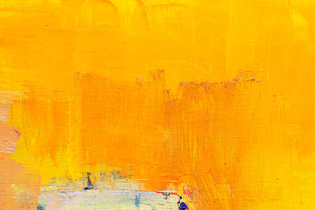 abstract painted orange  art backgrounds. - acrylic painting stock photos and pictures